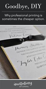 Why professional wedding invitations are sometimes cheaper for Diy wedding invitations vs professional