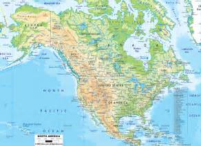 North America Physical Features Map
