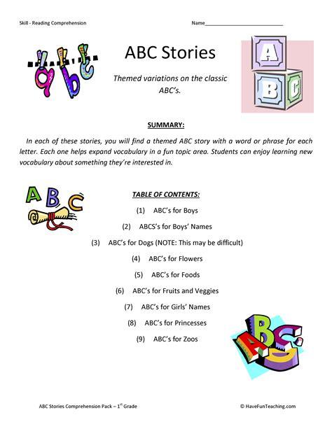Worksheet Free Reading Comprehension Worksheets For 1st Grade Worksheet Fun Worksheet Study Site
