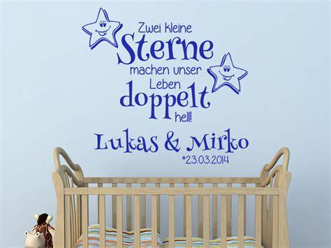 Wandtattoo Kinderzimmer Zwillinge by Wandtattoo Zwillinge Zwei Kleine Sterne Wandtattoo De