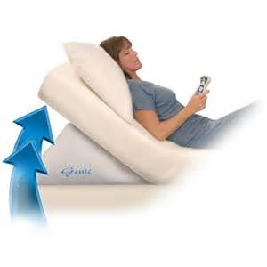 mattress genie adjustable bed wedge inflatable