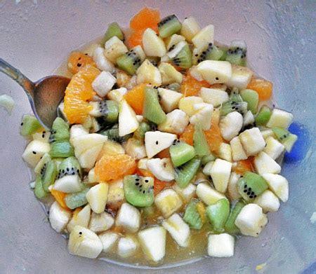 salade de fruits au sirop de yuzu recettes maison
