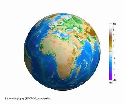 Earth 3d Globe Rotating Sphere Topography Matlab