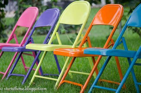 spray paint metal folding chairs ideas
