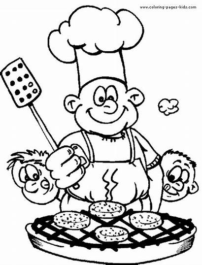Pages Coloring Printable Nature Chef Sheets Cooking