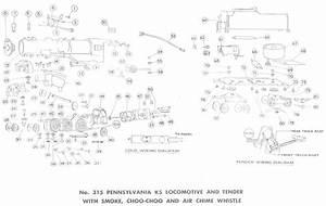 American Flyer Locomotive 315 Parts List  U0026 Diagram