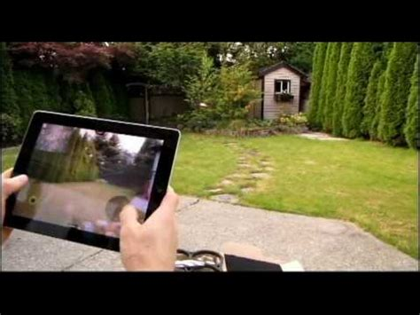 parrot ardrone ipad controlled remote control aircraft test flight demo linus tech tips youtube
