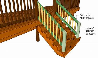 Build Deck Stair Railing Stairs Handrail Porch