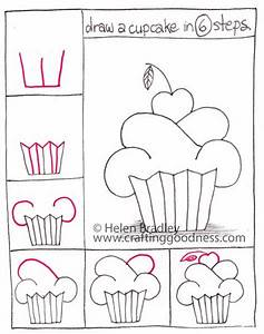 Step by step - how to draw a cupcake   Crafting Goodness
