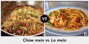 Difference between Chow mein and Lo mein