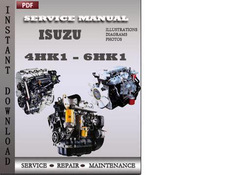 isuzu engine 4hk1 6hk1 troubleshooting manual