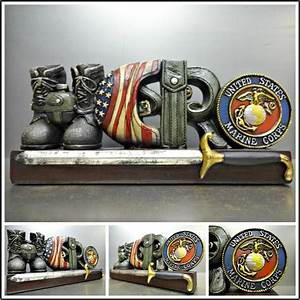 MARINES MARINE CORPS MILITARY HERO PLAQUE SIGN DECORATION
