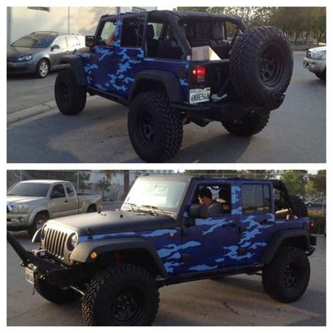 Blue Camo Jeep Car Wraps Pinterest