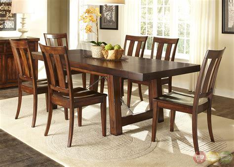 tahoe rustic style mahogany finish dining room set
