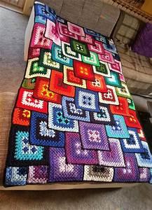 Decke Stricken Patchwork : patchwork granny decke kostenlose anleitung ~ Watch28wear.com Haus und Dekorationen