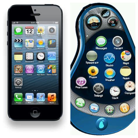 phone is iphone 5 vs pear phone pear phone is bu picsart