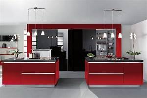 cuisine rouge moderne With deco de cuisine rouge