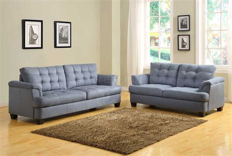 Blue Grey Sofa by St Charles 9736 Sofa Homelegance Blue Grey Fabric W