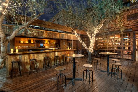 enjoy alfresco dining the shade of olive trees on