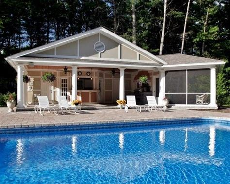 pool house  screen porch outdoor kitchen pool