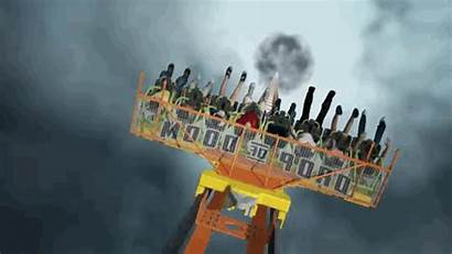 Flags Six Rollercoaster Drop Ride Tallest Rolling