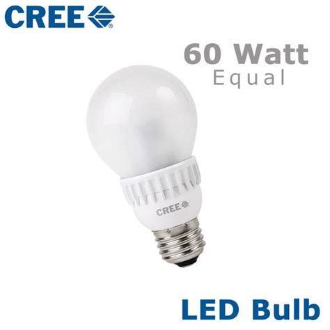 cree led a19 light bulb 60 watt equal a19 60w 27k b1 a19