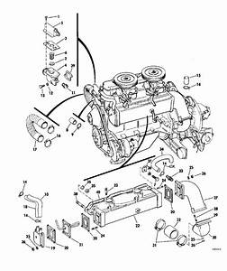Omc Stern Drive Cooling System Group Parts For 1968 120hp