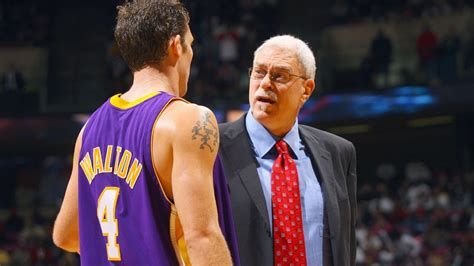 phil jackson visits los angeles lakers practice facility