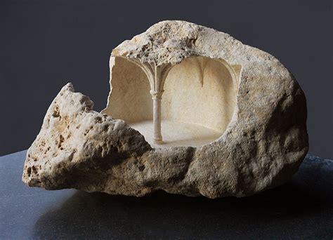 architectural geodes subtractive sculptor carves ornate