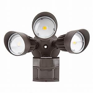 Led Motion Sensor Light - 3 Head Security Light