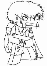 Minecraft Coloring Pages Expert Survival Game sketch template