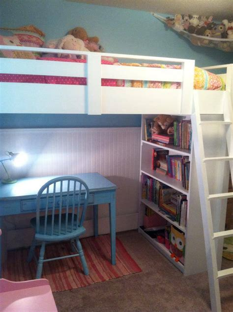 ana white sweet girls loft bed diy projects