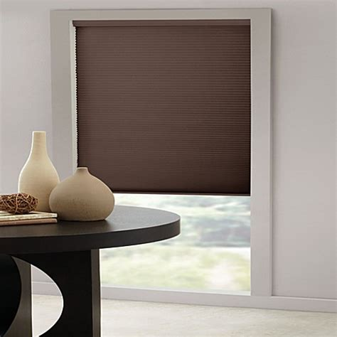 l shades bed bath and beyond insola 174 cordless cellular honeycomb shade in espresso