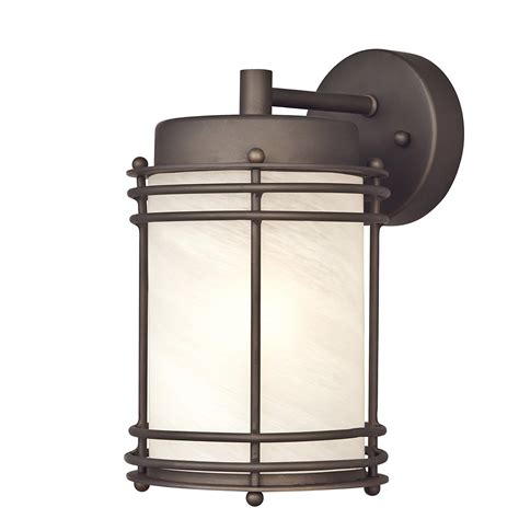 heath zenith hz 8416 led outdoor wall sconce with dusk to