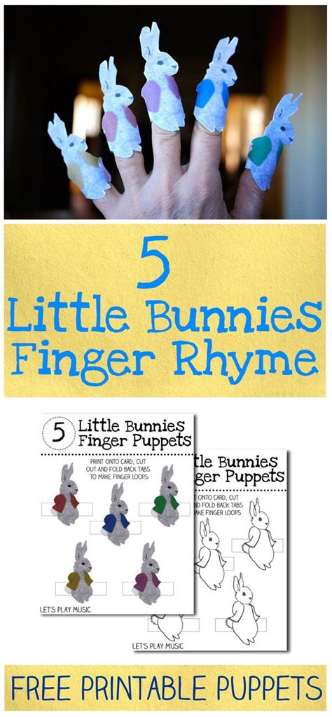 5 bunnies finger rhyme free printable of the 151 | 72fa8a825f95e8d025e5616f0f1263dc