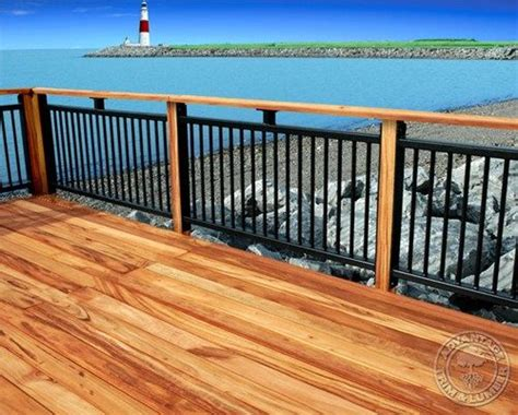 deck railing ideas with wood and iron wood deck ideas