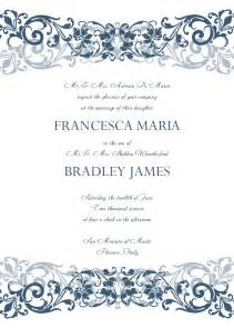 wedding templates 8 free wedding invitation templates excel pdf formats