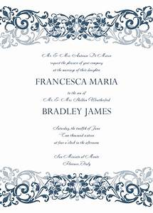 8 free wedding invitation templates excel pdf formats for Free wedding announcement templates for word