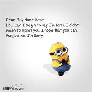 wishes for engagement cards minion sorry images with name editing option