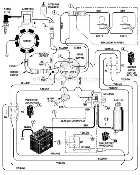 Huskee Mower Electrical Diagram by Mtd Lawn Mower Wiring Diagram Lawn Mower Electrical
