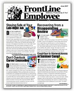 Employee newsletter content for Staff newsletter template