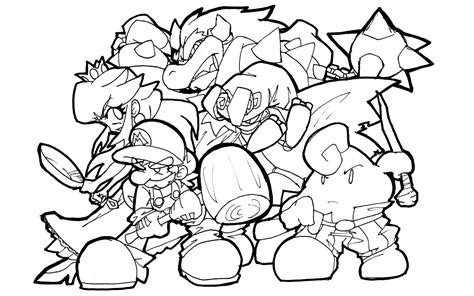 Best Super Mario Coloring Pages Collection Super Mario