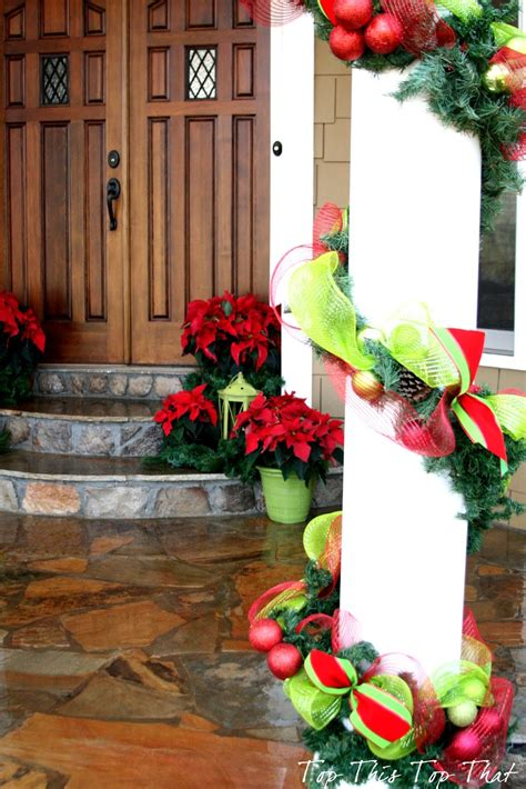 decorating porch columns for christmas christmas decor outside the house duke manor farm