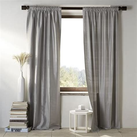 West Elm Drapery Hardware by Silk Curtain Pewter West Elm