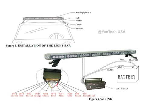 Led Light Bar Wiring Diagram For Truck by 60 Quot Led Light Bar Tow Plow Truck Wrecker W