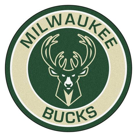 FANMATS NBA Milwaukee Bucks Cream 2 ft. 3 in. x 2 ft. 3 in