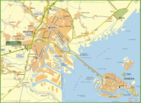 venezia italy map  travel information