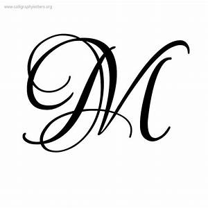 Fancy Cursive Letter M KC Garza