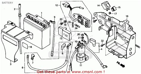 Honda Rebel Schematic by Honda Cmx250c Rebel 1985 F Usa California Battery
