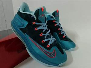 2014 Nike Lebron James 11 Low Blue Black Red Shoes Low ...